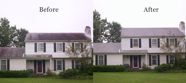 Before Amp After Jacksonville Pressure Washing Amp Roof Cleaning
